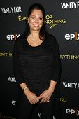 NEW YORK-OCT 3: Hillary Saltzman attends 'Everything Or Nothing: The Untold Story Of 007' premiere a