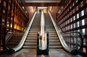 picture of escalator  - Empty escalator in office or airport building - JPG