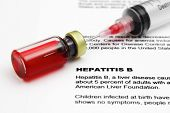 stock photo of hepatitis  - Close up of medicine vial - JPG