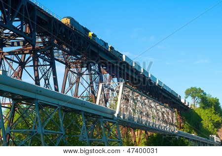 Freight On Trestle