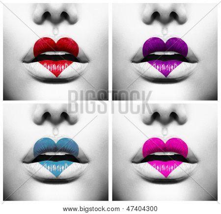 La manera abstracta collage de belleza labios sensuales for Colores sensuales