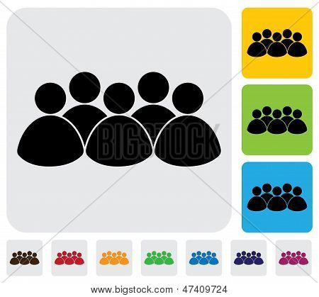People, Kids, Coummunity Icon(symbol)- Simple Vector Graphic