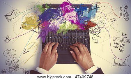 Multitasking Businesswoman At Work
