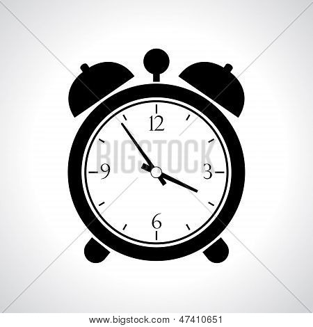 Vector alarm clock icon
