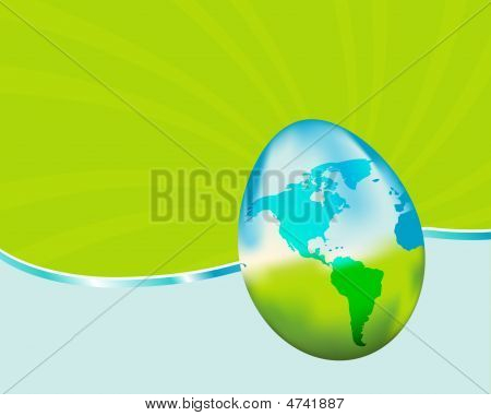 Vibrant Glass Earth Egg