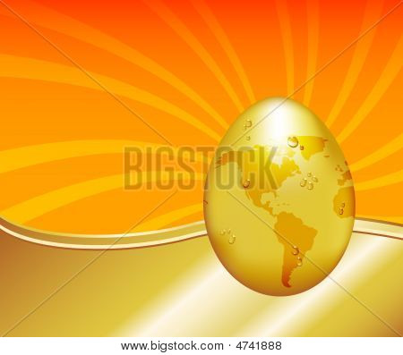 Global Warming Gold Egg