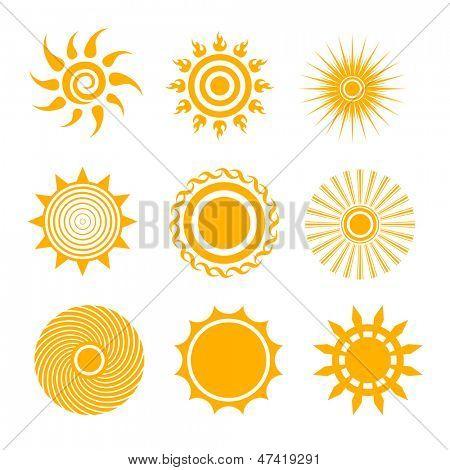 Sonne-Icon-set