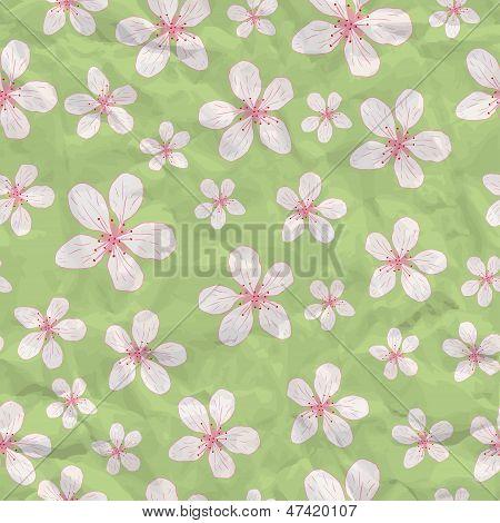 Seamless Blossom Background
