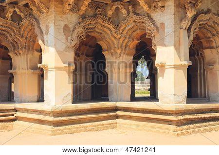 Lotus Mahal In Hampi, India. Detail