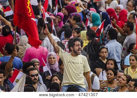 Egyptian Activist Protesting Against Morsy