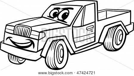 Cartoon Images of Pickup Trucks Pickup Car Cartoon Coloring