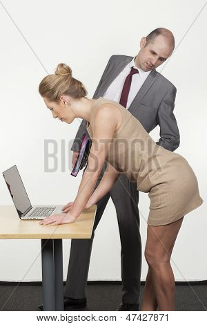 Boss Ogling His Secretary