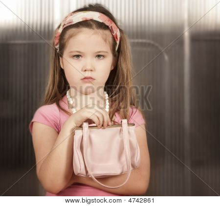 Little Girl With Pink Purse