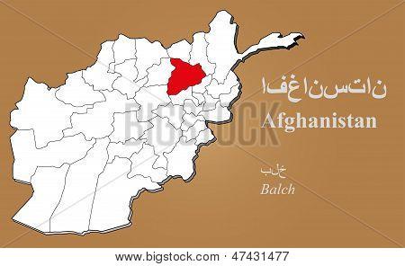 Afghanistan Balch Highlighted