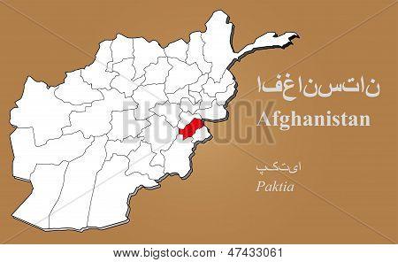 Afghanistan Paktia Highlighted