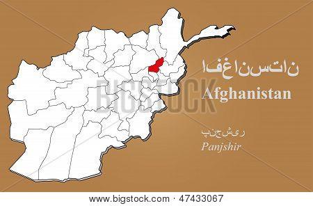 Afghanistan Panjshir Highlighted