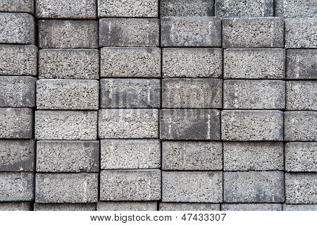 Gray Square Pavement Cement Bricks