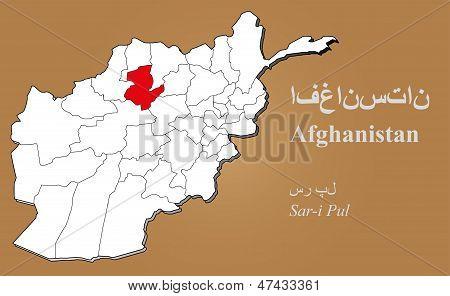 Afghanistan Sar-i Pul Highlighted