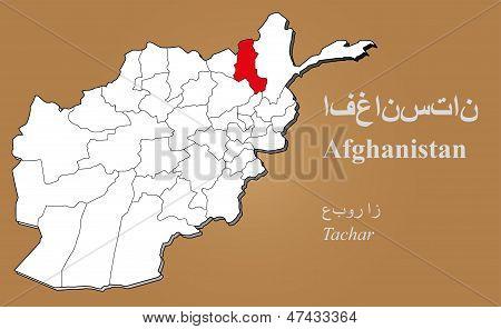 Afghanistan Tachar Highlighted
