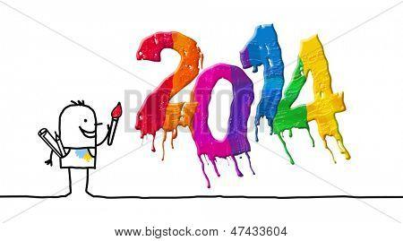 artista & 2014 pintado