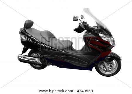 Black Scooter Motorcycle