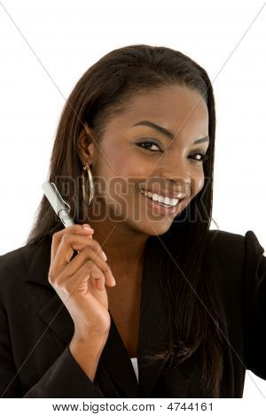 Businesswoman With A Pen