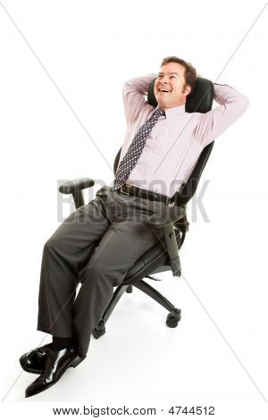 Relaxed Businessman Ergonomics