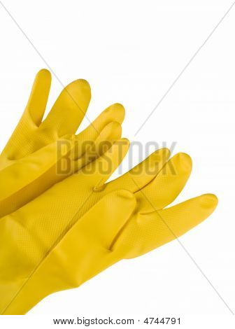 Protective Material Yellow Gloves