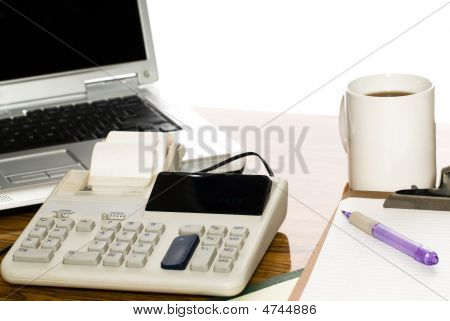 Isolated Office Desk