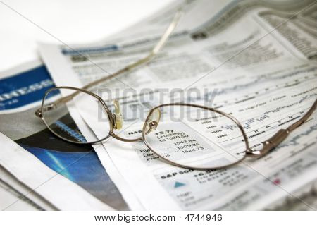 Eyeglasses On Newspaper