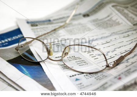 Eyeglasses On Newspaper