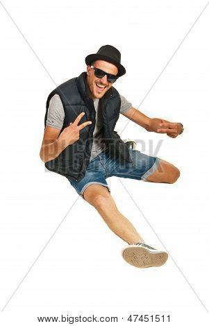 Happy Rapper Man Gesticulate