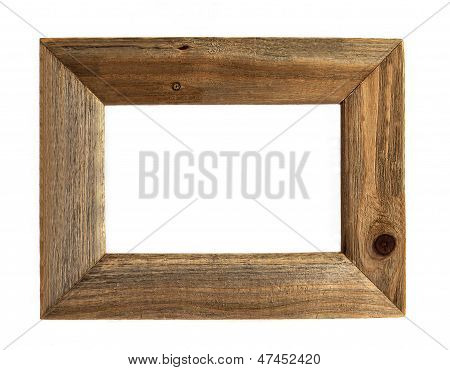Wooden Picture Frame - Isolated.
