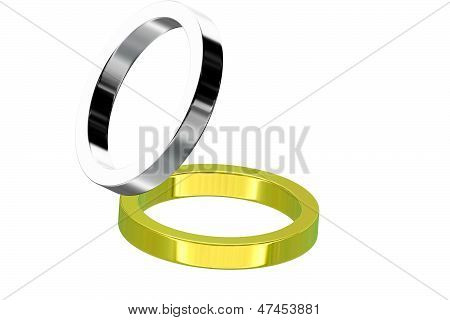 Gold Wedding Ring Isolated