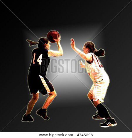 Basketball Girls Diamond Backround