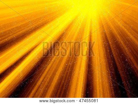 Dourado raios de luz