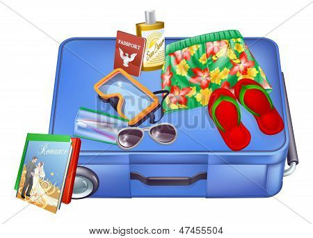 Suitcase And Vacation Items