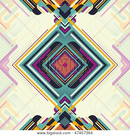 Modish abstraction in color. Vector illustration.