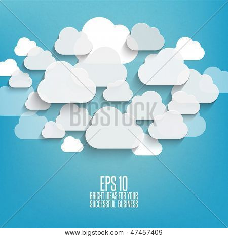 Abstract clouds used in social networks