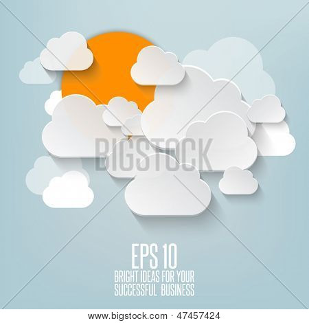 Abstract clouds used in a social networks