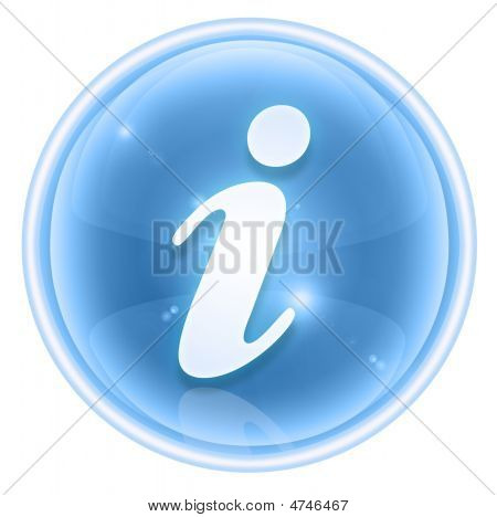 Information Icon Ice, Isolated On White Background
