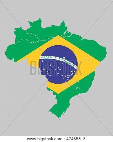 巴西国旗地图 库存矢量图和库存照片 | bigstock