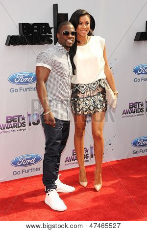 LOS ANGELES - JUN 30: Kevin Hart, Eniko Parrish at the 2013 BET Awards at Nokia Theater L.A. Live on June 30, 2013 in Los Angeles, California
