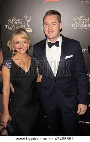 BEVERLY HILLS - JUN 16: Kelsey Nixon, Robby Egan at the 40th Annual Daytime Emmy Awards at The Beverly Hilton Hotel on June 16, 2013 in Beverly Hills, California