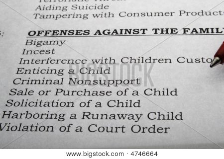 Family Offenses Paper