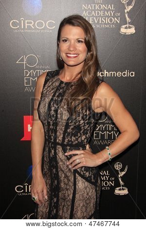 BEVERLY HILLS - JUN 16: Melissa Claire Egan at the 40th Annual Daytime Emmy Awards at The Beverly Hilton Hotel on June 16, 2013 in Beverly Hills, California