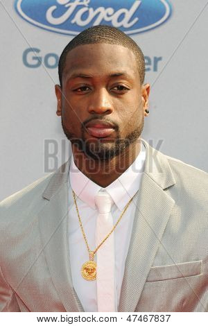 LOS ANGELES - JUN 30: Dwyane Wade at the 2013 BET Awards at Nokia Theater L.A. Live on June 30, 2013 in Los Angeles, California