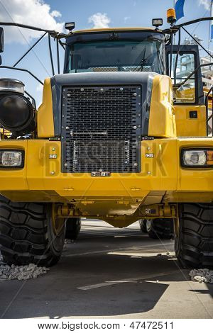 Very Powerful Yellow Construction Machine - Tractor Unit