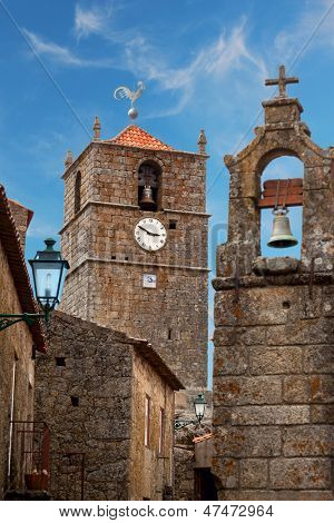 Monsanto village with the bell tower / Typical granite houses / Portugal