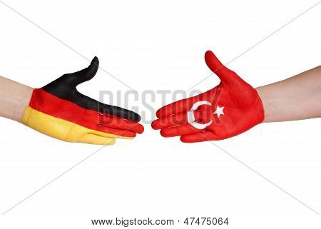 Handshake Between Germany And Turkey
